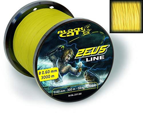Black Cat Zeus Line gelb 3000 m 0,60 mm 59 kg 130 lbs -