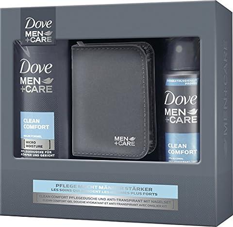 Dove Men+Care Geschenkset Clean Comfort mit Nagelset, 1er Pack