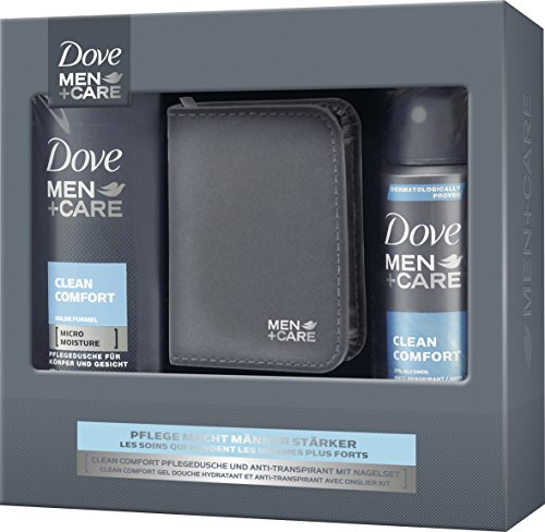 Dove Men+Care Geschenkset Clean Comfort mit Nagelset, 1er Pack