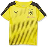 Puma Kinder Bvb Stadium Jersey with Sponsor Logo Trikot, Cyber Yellow Black, 140