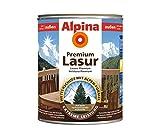 ALPINA Premium Lasur, 2,5 L. Holz Dickschichtlasur außen, Eiche