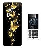 003254 - Golden butterflies Design Microsoft Nokia 216