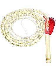 La última Popular 3m piel de vaca látigo fusta de artes marciales Kung Fu látigo, blanco