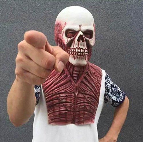 GZD Halloween Terror Geformt Geister Alter Mann Kopfbedeckung Kammer des Schreckens Spukhaus Zombie Leiche Zombie Skelett Teufel (Für Beängstigend Halloween Kostüme Mädchen)