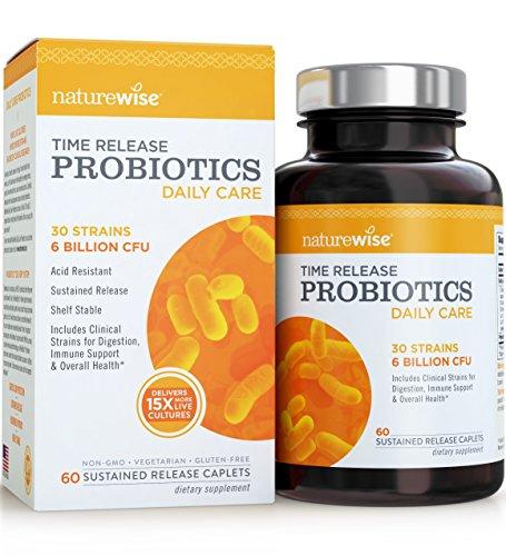 Daily Care, Probiotics, Time Release, 6 Billion CFU - NatureWise (60 Caplets)