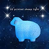 Wpond 3D Druck Schafe Form Lampe mit Fernbedienung Nachtlicht für Party Dekoration Remote control 16 colors 20cm