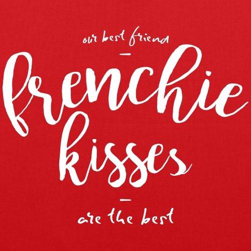 Spreadshirt Frenchie Baci Sacchetto Di Stoffa Bulldog Francese Rosso