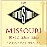 Rotosound rs75 missouri tenor banjo strings (10-32)