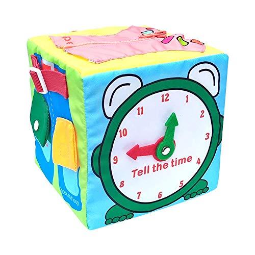 Würfel Baby Früherziehung Tägliches Dress-up Lernen Lehrmittel Schnürsenkel Stoff Spielzeug Taste, Zip Puzzle für Kleinkind Kinder Jungen Mädchen Baby ()