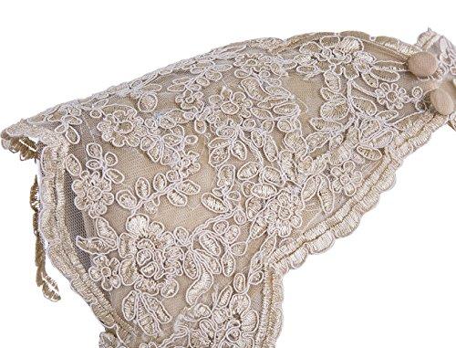 Dresstells, Robe de soirée Robe de cérémonie Robe de gala mousseline dentelle dos nu longueur ras du sol Rouge