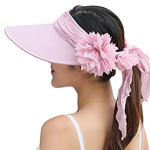 WITERY Women Two Way Folding Wide Brimmed Sun Protective Hat
