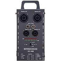 Pronomic CC de 88Multi de comprobador de cables (Multi de formato de comprobador de cables, Speakon, XLR, Chinch, RJ45, Jack, DIN, MIDI, S-Video, pantalla LED, asa) gris