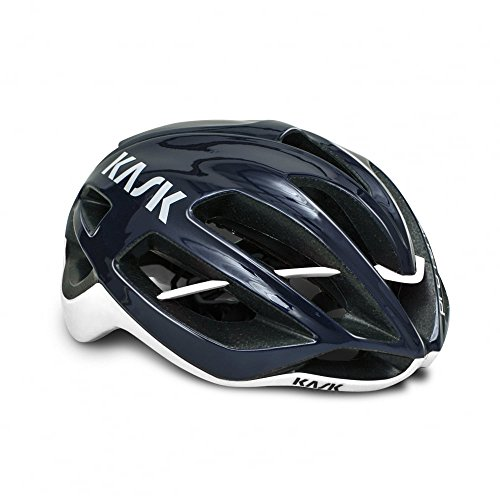 KASK Protone Performance Road Cycling Helmet - Navy Blue/White Large
