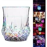 Karp Pineapple Shape Color Changing Flash Sensitive Light LED Beer Mug, Wine Glass
