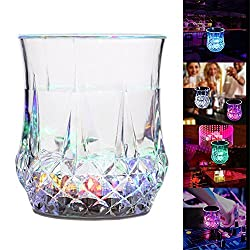 Wine Glass - Pineapple Shape Color Changing Flash Sensitive Light LED Wine Beer Cup for Home Bar Birthday Dance Party Celebration Halloween Christmas Events By KARP