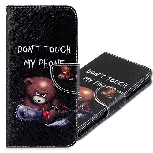 MRSTER Funda Xiaomi Redmi 5 Plus, PU Cuero Flip Folio Carcasa [Kickstand] [Ranura para Tarjeta] [Cierre magnético] para Xiaomi Redmi 5 Plus. BF Bear