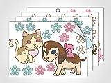 GRAZDesign 411011_4 Fenstersticker Tiere und Blumen | Fensterfolie bunte Aufkleber | Glasdekor Kinderzimmer (DIN A4 (4Stück))