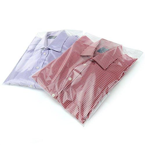 Hangerworld 30,5x 40,5cm Bolsas de plástico con autocierre para Camisas Ropa, 40Unidades,...