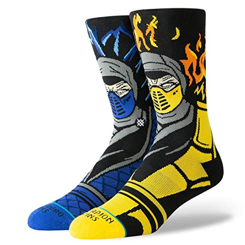 Stance Mortal Kombat Sub Zero VS Scorpion Socks - Black