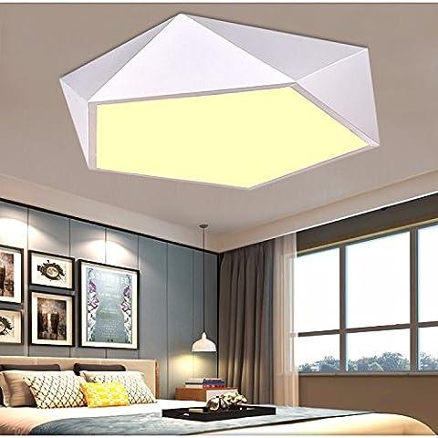 JRBB Kreative Geometrie Schlafzimmer Deckenleuchte LED der nordischen Charakter Ess- und Wohnzimmer Lampen moderne, minimalistische Studie Halle, das weiße Licht Feld 52 cm 3 Farben optische
