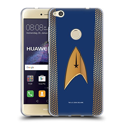 Head Case Designs Offizielle Star Trek Discovery Kommando Uniformen Soft Gel Hülle für Huawei P8 Lite (2017)