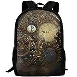 TTmom Cartables,Sac à Dos Loisir, Steampunk Clocks Backpack Bookbag for School...