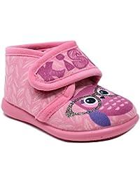 021bae7e Puchitos - Zapatillas de casa para niña con Velcro - Fabricado en España -  Fucsia -