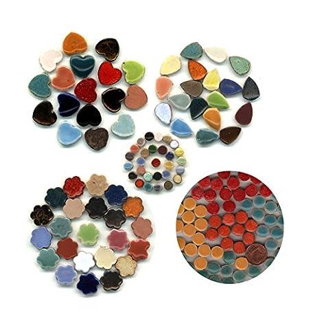 Mosaic-Minis Mix Varied 1170 Pieces , Micro Round - Spade - Heart - Flowers - Big Round