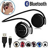 TRUE SHOP™ Universal Wireless Bluetooth Headphone Support SD Card Upto 16GB With Built-in Microphone & TF Cart Slot For All Android, IOS And Windows Devices {Assorted Colour}