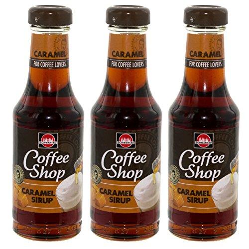 Schwartau Coffee Shop Caramel Sirup, für Kaffee, Dessert und Cocktails, 3er Pack