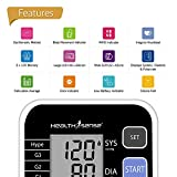 Health Sense Classic BP120 Heart Mate Fully Automatic Digital Blood Pressure Monitor (Black/Grey)