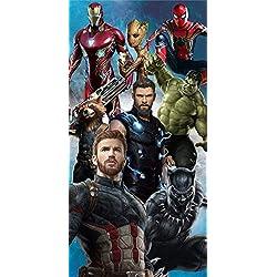 Marvel - Toalla de baño de algodón, 70 x 140 cm, modelo: Avengers Age of Ultron Vision