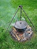 Tradehub Gulaschkessel Gulaschtopf Kochtopf mit Dreibein für Feuer Feuerstelle Garten aus Gusseisen   Fassungsvermögen: 5 L