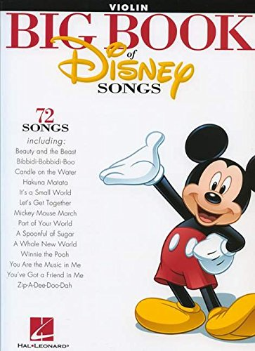 The Big Book Of Disney Songs -For Violin-: Noten für Violine