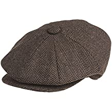 Peaky Blinders Herren Schirmmütze braun Dark Brown Herringbone Medium