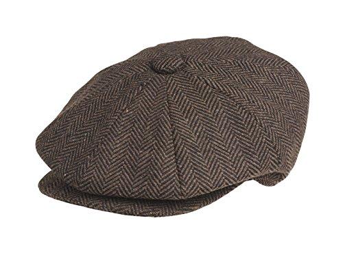 Peaky Blinders - Boina - para Hombre marrón Dark Brown Herringbone Medium