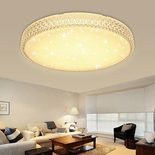 HG® 60W LED Deckenleuchte Wandlampe Warmweiß Deckenlampe Kristall  Deckenbeleuchtung Rund Lampe Wohnzimmer Flurleuchte Schlafzimmer Badlampe  ...