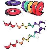 Rainbow viento Spinner jardín Spinner tienda decoración bandera al aire libre colorido spinner–Wind Vane bandera Breeze–colorido colgante decoración patio, colorido, 4 piezas