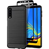 Teayoha Case for Samsung Galaxy A7 2018, with Tempered