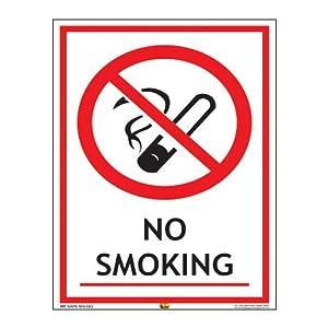 Mr. Safe – No Smoking Sign PVC Sticker A3 (11.7 inch X 16.5 inch)