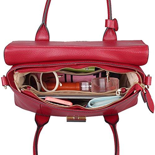 SAIERLONG Nuovo Donna Vino rosso Cuoio Di Qualità Di Lusso Borse Tracolle Marrone