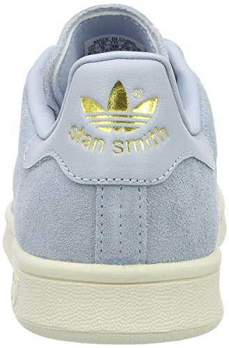 adidas Stan Smith, Sneakers Basses Femme Bleu (Easy Blue/easy Blue/chalk White)