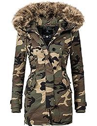 Navahoo Damen Baumwoll Winterparka Winterjacke Pauline (Vegan Hergestellt)  6 Farben XS-XXL eef5ed5098