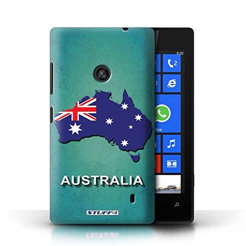 Kobalt® Imprimé Etui / Coque pour Nokia Lumia 520 / Irlande/irlandaise conception / Série Drapeau Pays Australie