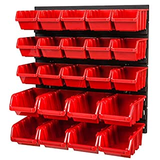 Lagersystem 386 x 390 mm Stapelboxen Wandregal Box Sichtlagerkästen Schüttenregal Lagersystem 23 Boxen