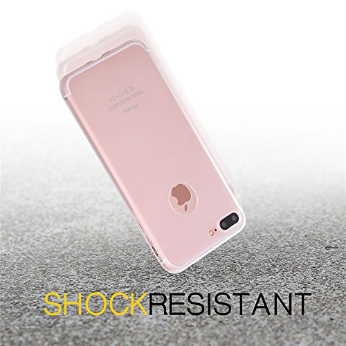 iPhone 7 Plus Custodia, Bandmax iPhone 7 Plus Hot Pink High Quality Comfortable TPU Cover Shock/Scratch Resistant Protective Bumper Case for iPhone 7 Plus (Pink) Trasparente