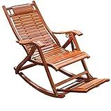 Lw yychair Schaukelstuhl Schaukelstuhl Sessel für Garten oder Terrasse aus natürlichem Massivholz Komfortabel geschwungene Rückenlehne Ideal für den Außen- oder Innenbereich (Farbe : B)