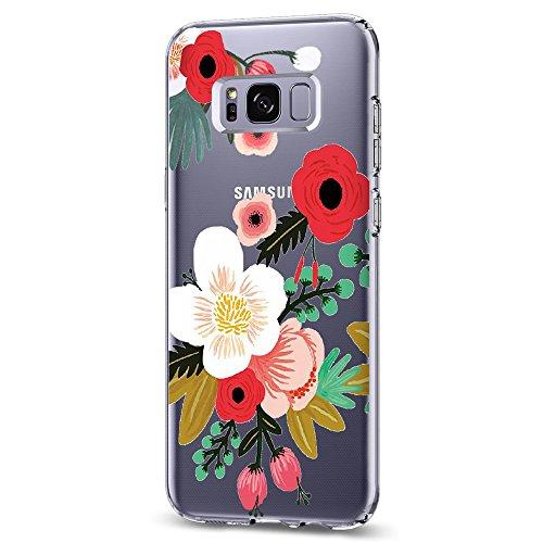 Pacyer Samsung Galaxy S8 / S8 Plus Hülle, TPU Silikon Handyhülle Case [Schlank] Liquid Crystal Transparent Blumen Design Netter Süßigkeit Baum SchutzHülle Cover (1, Galaxy S8 Plus)