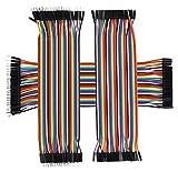 TechMaker 120pcs 20cm breadboard dupont jumper cables - 3 nappes: male/male, femelle/femelle, male/femelle pour platines Labdec, Arduino, Raspberry Pi, BeagleBone Black