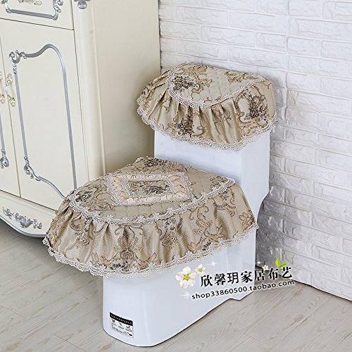 WANG-shunlida Europäischen Stil Tuch wc drei Stücke Sitzbezug Spitze allgemeine Reißverschluss (Stil Ein Stück Tuch)